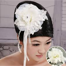 Organza Lace <b>Crystal White</b> Head Flower - TH049-1000x1000