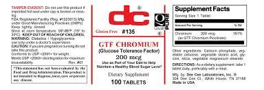 <b>GTF CHROMIUM</b> Glucose Tolerance Factor <b>200 MCG</b>