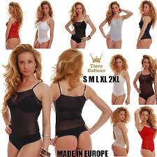 <b>Mesh Women</b> Bodysuit Thin Strap See Through Vest Thong <b>S</b>-<b>3XL</b> ...