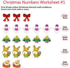 Christmas math worksheets for preschool, pre-k/kindergarten, and ...Elementary school Christmas numbers worksheets, grade one numbers math worksheets free printable
