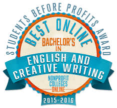 Best Online Bachelor     s in English  amp  Creative Writing  Students Before Profits Award           Nonprofit Colleges Online
