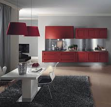stunning kitchen design with employ red kitchen cabinet awesome white tray ceiling with flax wall architecture awesome kitchen design idea red