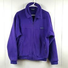 Vintage Patagonia Men's Size M Purple Synchlla <b>Fleece</b> Zip Up Jacket