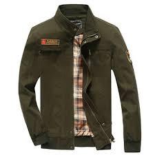 <b>mens autumn winter</b> military cargo casual <b>cotton</b> stand collar zipper ...