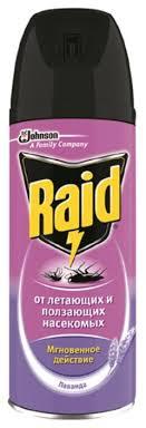<b>Аэрозоль Raid</b> от ползающих и летающих <b>насекомых</b> с запахом ...