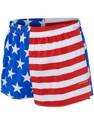 B.O.A Men's <b>3- Inch</b> Half <b>Split</b> Trainer <b>Running Short</b> - American Flag