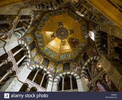 stock photo the ceiling vault of the palatine chapel in the aachen aix la chapelle cathedral aix la chapelle cathedral