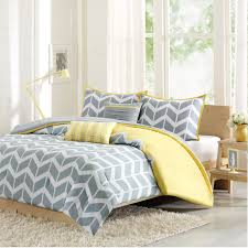 yellow and gray bedroom: intelligent design nadia comforter set in grey and yellow bedroom