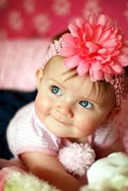 <b>Flower</b> Headband | Baby girl blue eyes, <b>Happy baby</b>, Cute kids