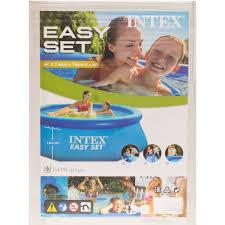 <b>Бассейн надувной</b> круглый <b>Intex</b> Easy Set 244х244х76 см 2419 л в ...