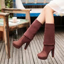 <b>MoonMeek</b> 2020 <b>new</b> winter boots thigh high boots round platform ...
