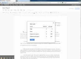 google docs word count google docs word count