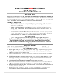 corrections officer description resume