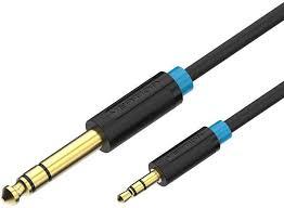 Купить <b>кабель</b> 3.5 мм, 6.3 мм 1 м, <b>Vention</b> BABBF, черный по ...