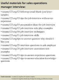 top s operations manager resume samples 14 useful materials for s operations manager