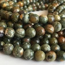 <b>Wholesale Natural Stone</b> Beads Rhyolite <b>Green</b> Rainforest Jaspers ...