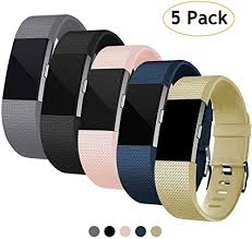 Laneco for Fitbit Charge 2 <b>Bands</b>, <b>Silicone</b> Adjustable Sport ...