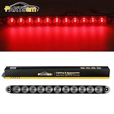 "Partsam <b>1pcs</b> 15"" <b>Clear</b>/<b>Red</b> 11 LED Flange Mount Trailer Truck ..."