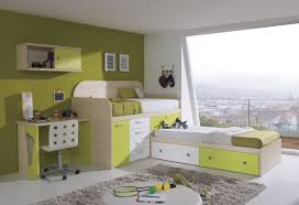 contemporary cream solid wood bunk bed with gren and white drawer also dresser combined with desk bunk beds desk drawers