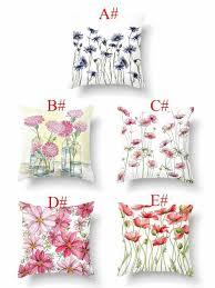 <b>Чехол подушки с</b> цветочным принтом без наполнителя 1шт ...