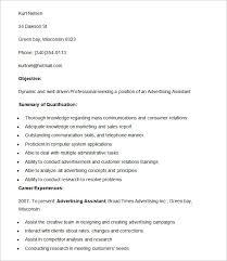 advertising resume sample advertising manager resume advertising resume template 16 free samples examples format advertising assistant resume