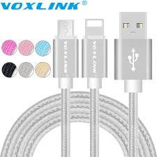 <b>Voxlink USB Cables</b> for iphone 6S 5s Micro USB Data Cable For ...