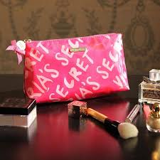 victoria 39 s secret signature pink cosmetic bag women make up pouch