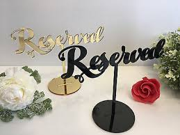 <b>Reserved sign</b> Reception <b>Wedding</b> Table Seating <b>Signs</b> ...