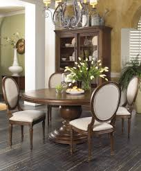 round white marble dining table: dining room unique round tables design ideas glass table and classic brown varnished wooden dining