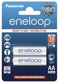 Купить <b>Аккумулятор Ni</b>-<b>Mh</b> 1900 <b>мА</b>·<b>ч</b> Panasonic eneloop AA 2 шт ...