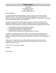 cover letter program manager template cover letter program manager