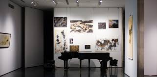 picture art gallery lighting fixture with track lighting above grand piano art track lighting