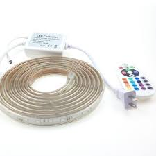<b>220V 5050</b> RGB <b>LED Strip</b> Waterproof IP67 220 Volt 50m 10m 25m ...