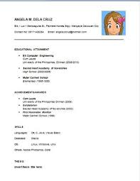 resume format philippines sample sample resume  seangarrette coresume