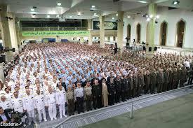 Image result for رهبر انقلاب در دیدار فرماندهان نظامی ارتش