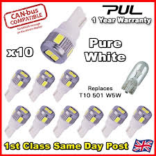 ERROR FREE <b>CANBUS T10</b> 501 W5W 6 LED <b>5630 SMD</b> CREE ...