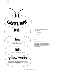 hs simple paragraph essay outline worm form writing printable writing process and essay set up and outline also available on the site