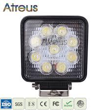 Atreus <b>4Inch 27W Square</b> Car LED Work Light 12V Spot DRL Lamp ...