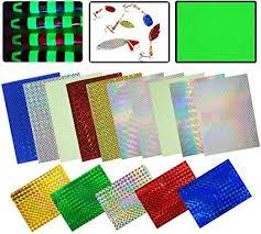 Holographic Adhesive Film Flash <b>Fishing Lure</b> Prism Tape <b>Scale</b> ...