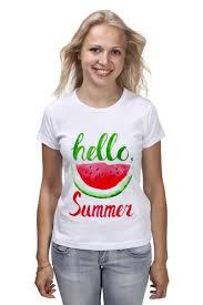 Футболка классическая <b>Hello summer</b> #2210788 – заказать ...