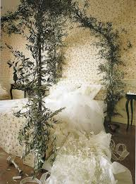 kitty otoole elegant whimsical bedroom: stunning green plant of fairytale bed