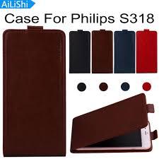 AiLiShi Factory Direct! Case For Philips S318 <b>Fashion PU Flip</b> ...