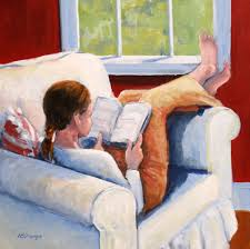 Image result for paintings of summer reading
