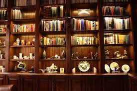 inspired led accent lighting bookcase and office lighting traditional home office bookcase lighting ideas