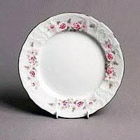 «<b>Набор тарелок 19 см</b> Бернадотт Серая роза платина (6 шт ...