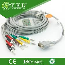 Compatible <b>Schiller ecg</b>/<b>ekg</b> cable with <b>10 lead</b> patient monitor ...