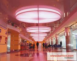 the luminaries can be suspended or built in on the barrisol ceilings barrisol proposes personalized creation of luminaries 3d cubes spheres pyramids barrisol lighting