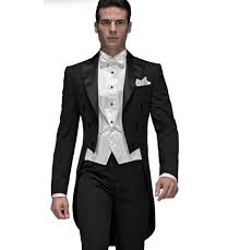 2017 <b>Custom</b> Made Elegant Style <b>Black Men Suits</b> Long Tailcoat ...