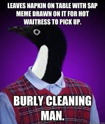 Socially Awkward Bad Luck Penguin memes | quickmeme via Relatably.com