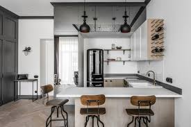 Modern One Bedroom Apartment Design Renovated Apartment In Lithuania With Modern Eclectic Interior